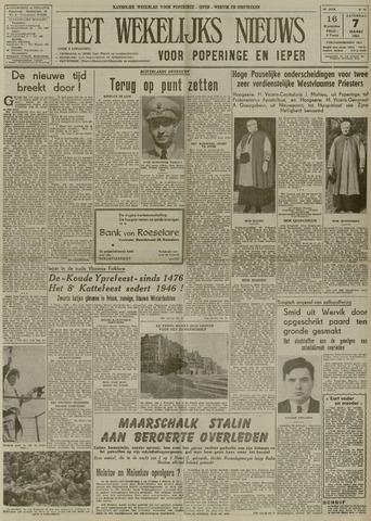 Het Wekelijks Nieuws (1946-1990) 1953-03-07