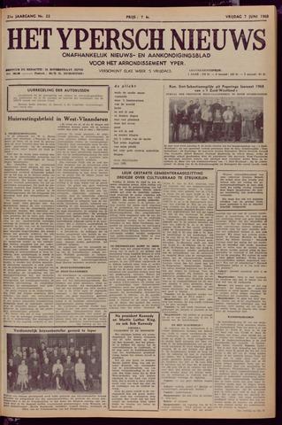 Het Ypersch nieuws (1929-1971) 1968-06-07
