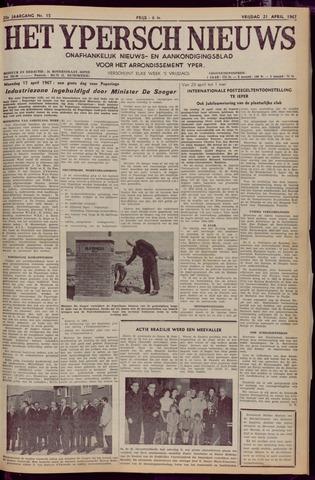 Het Ypersch nieuws (1929-1971) 1967-04-21