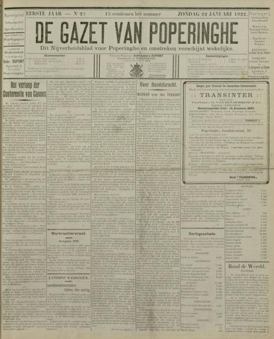 De Gazet van Poperinghe  (1921-1940) 1922-01-22