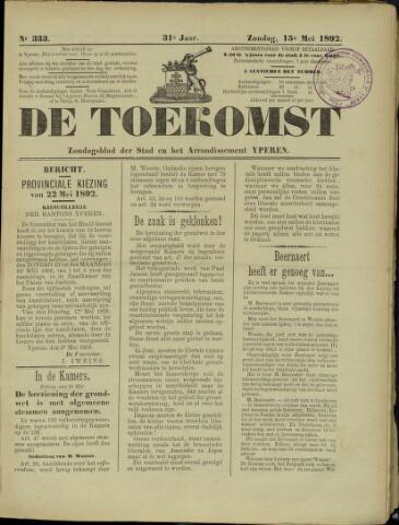 De Toekomst (1862 - 1894) 1892-05-15