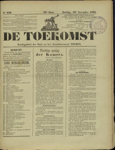 De Toekomst (1862 - 1894) 1892-11-13