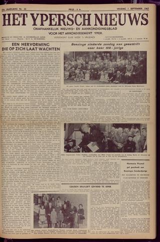 Het Ypersch nieuws (1929-1971) 1967-09-01