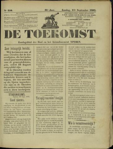 De Toekomst (1862 - 1894) 1892-09-11