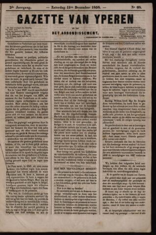 Gazette van Yperen (1857-1862) 1858-12-11
