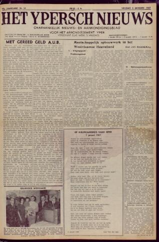 Het Ypersch nieuws (1929-1971) 1967-01-06