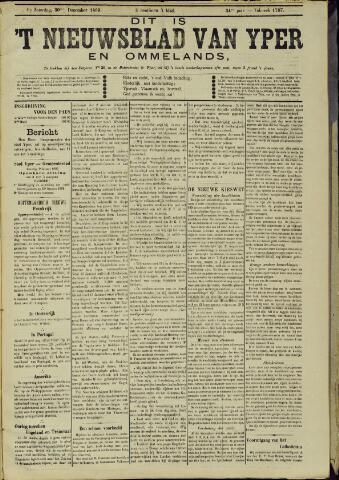 Nieuwsblad van Yperen en van het Arrondissement (1872 - 1912) 1899-12-30