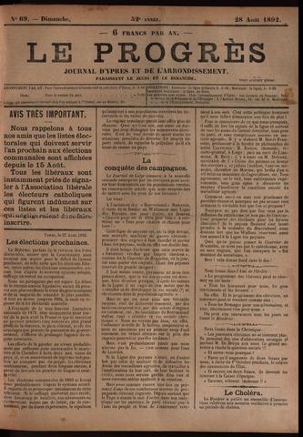 Le Progrès (1841-1914) 1892-08-28