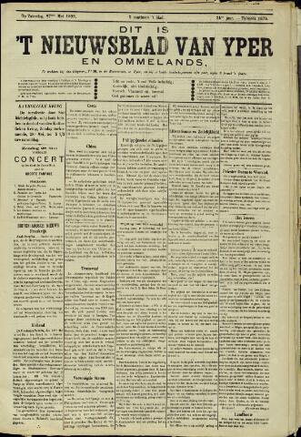 Nieuwsblad van Yperen en van het Arrondissement (1872 - 1912) 1899-05-27