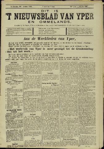 Nieuwsblad van Yperen en van het Arrondissement (1872 - 1912) 1899-10-28