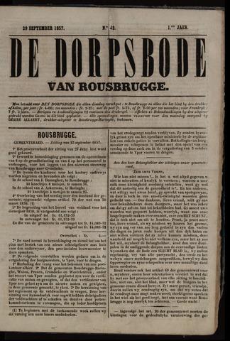 De Dorpsbode van Rousbrugge (1856-1857 en 1860-1862) 1857-09-29