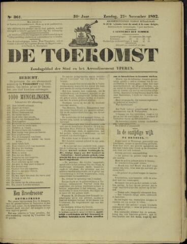 De Toekomst (1862 - 1894) 1892-11-27