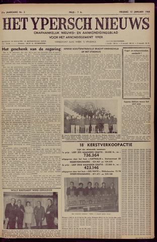 Het Ypersch nieuws (1929-1971) 1968-01-12
