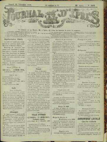 Journal d'Ypres (1874 - 1913) 1898-12-24