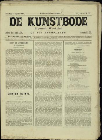 De Kunstbode (1880 - 1883) 1881-04-17