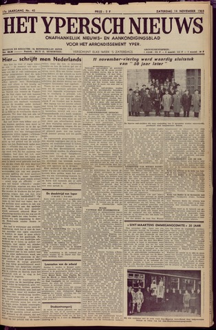 Het Ypersch nieuws (1929-1971) 1964-11-14