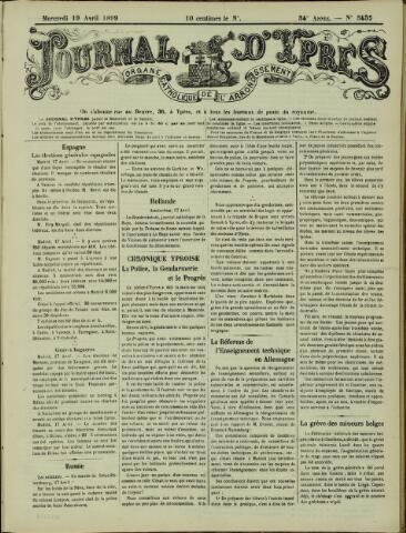 Journal d'Ypres (1874 - 1913) 1899-04-19