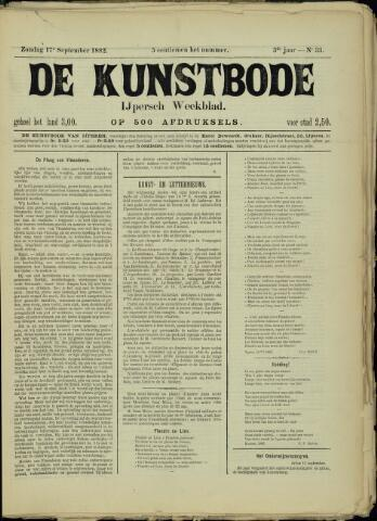 De Kunstbode (1880 - 1883) 1882-09-17