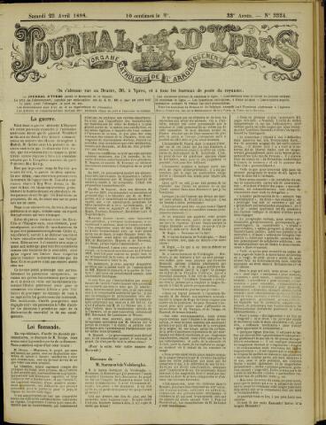 Journal d'Ypres (1874 - 1913) 1898-04-23