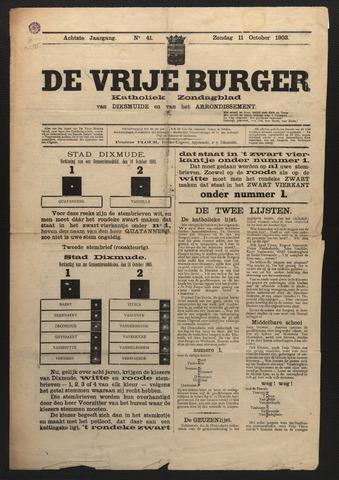 De Vrije Burger 1903-10-11