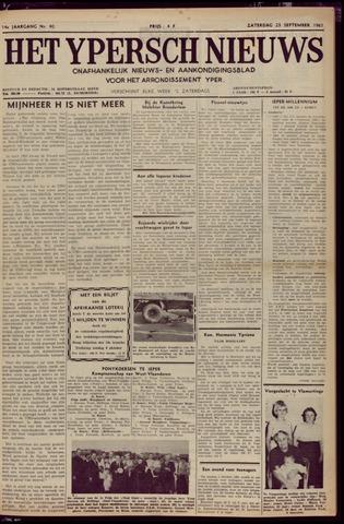 Het Ypersch nieuws (1929-1971) 1961-09-23