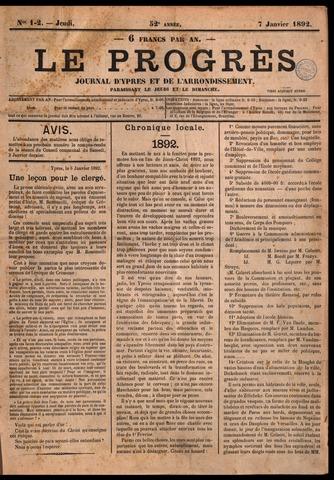 Le Progrès (1841-1914) 1892-01-07