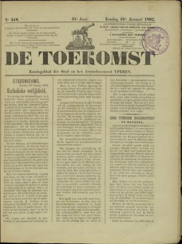 De Toekomst (1862 - 1894) 1892-01-31