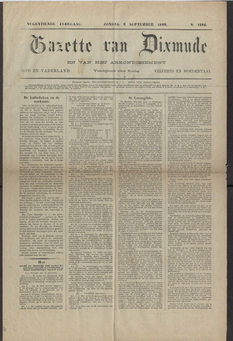 Gazette van Dixmude 1889-09-08