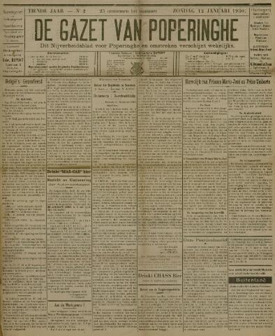 De Gazet van Poperinghe  (1921-1940) 1930-01-12