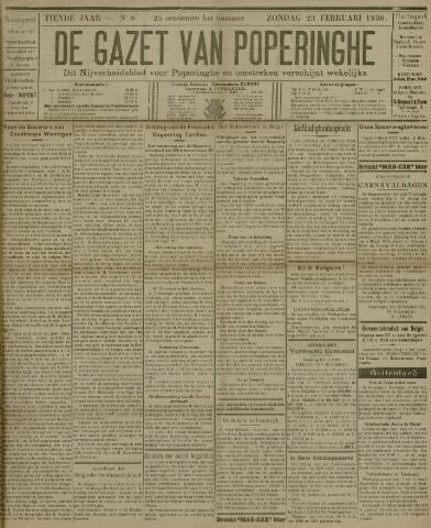 De Gazet van Poperinghe  (1921-1940) 1930-02-23