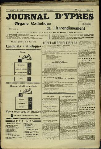 Journal d'Ypres (1874 - 1913) 1912-05-25