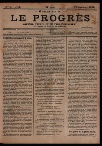Le Progrès (1841-1914) 1892-09-22
