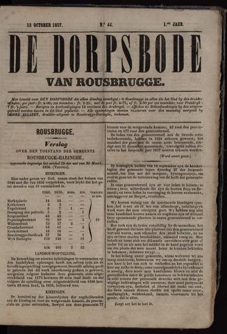De Dorpsbode van Rousbrugge (1856-1857 en 1860-1862) 1857-10-13