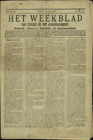 Het weekblad van Ijperen (1886 - 1906) 1894-08-04