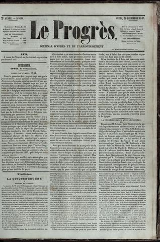 Le Progrès (1841-1914) 1847-12-30