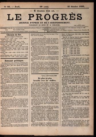 Le Progrès (1841-1914) 1888-10-25
