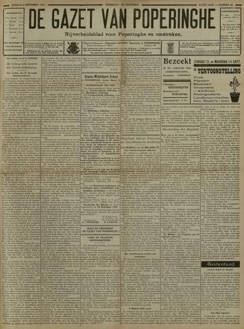 De Gazet van Poperinghe  (1921-1940) 1931-09-06