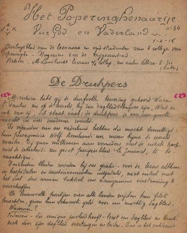 Het Poperinghenaartje (1915-1918) 1918-05-01
