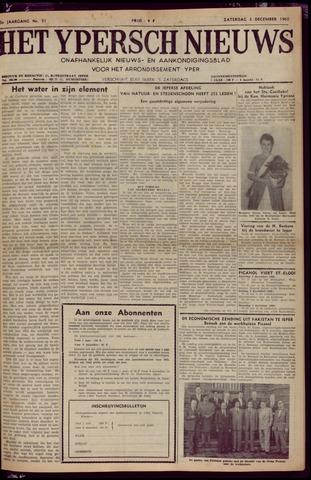 Het Ypersch nieuws (1929-1971) 1960-12-03