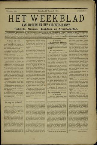 Het weekblad van Ijperen (1886 - 1906) 1894-01-13