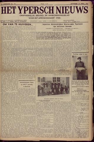 Het Ypersch nieuws (1929-1971) 1961-04-22