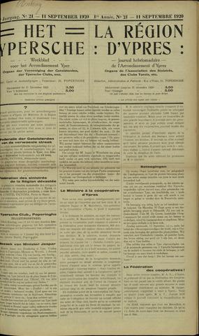 Het Ypersche (1925 - 1929) 1920-09-11