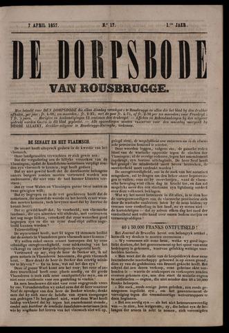 De Dorpsbode van Rousbrugge (1856-1857 en 1860-1862) 1857-04-07