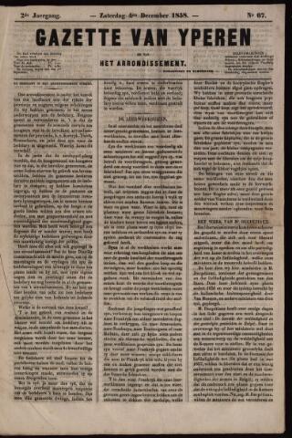 Gazette van Yperen (1857-1862) 1858-12-04