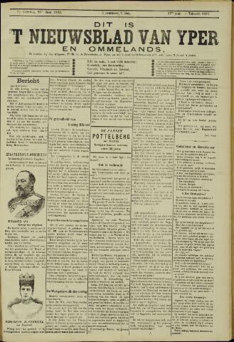 Nieuwsblad van Yperen en van het Arrondissement (1872 - 1912) 1902-06-21