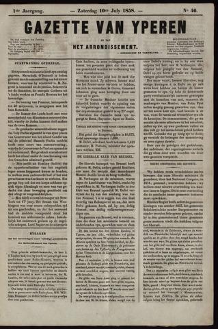 Gazette van Yperen (1857-1862) 1858-07-10