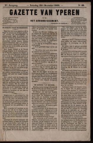 Gazette van Yperen (1857-1862) 1858-12-18