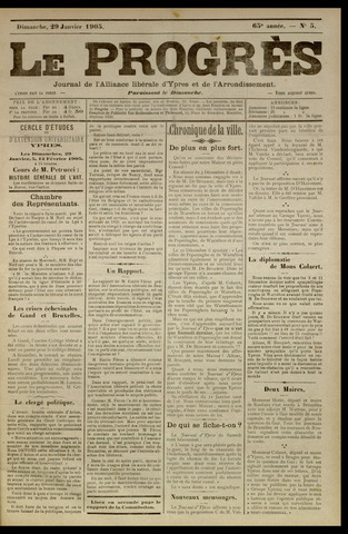 Le Progrès (1841-1914) 1905-01-29