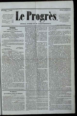 Le Progrès (1841-1914) 1847-03-25