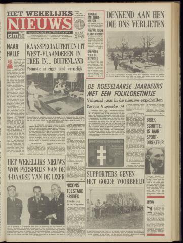 Het Wekelijks Nieuws (1946-1990) 1974-11-01
